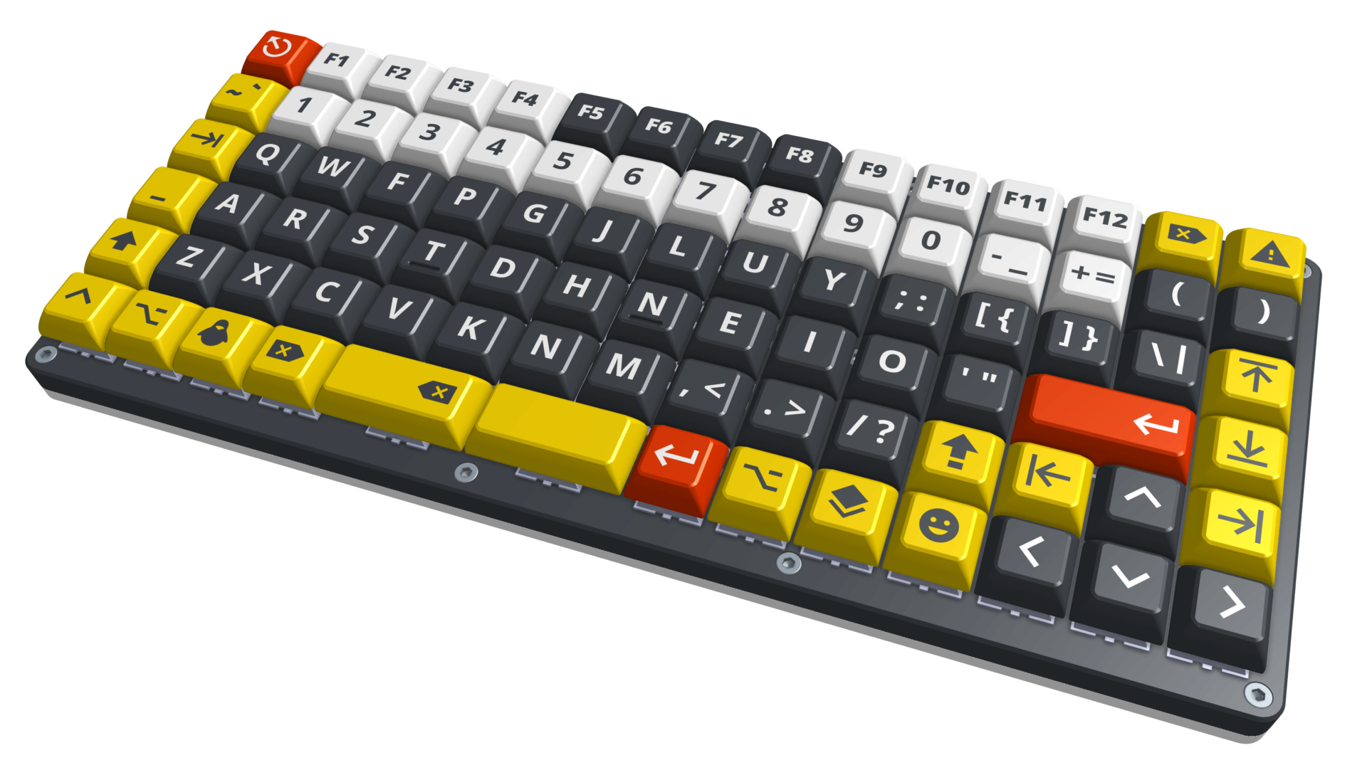 Keyboard render with keycaps