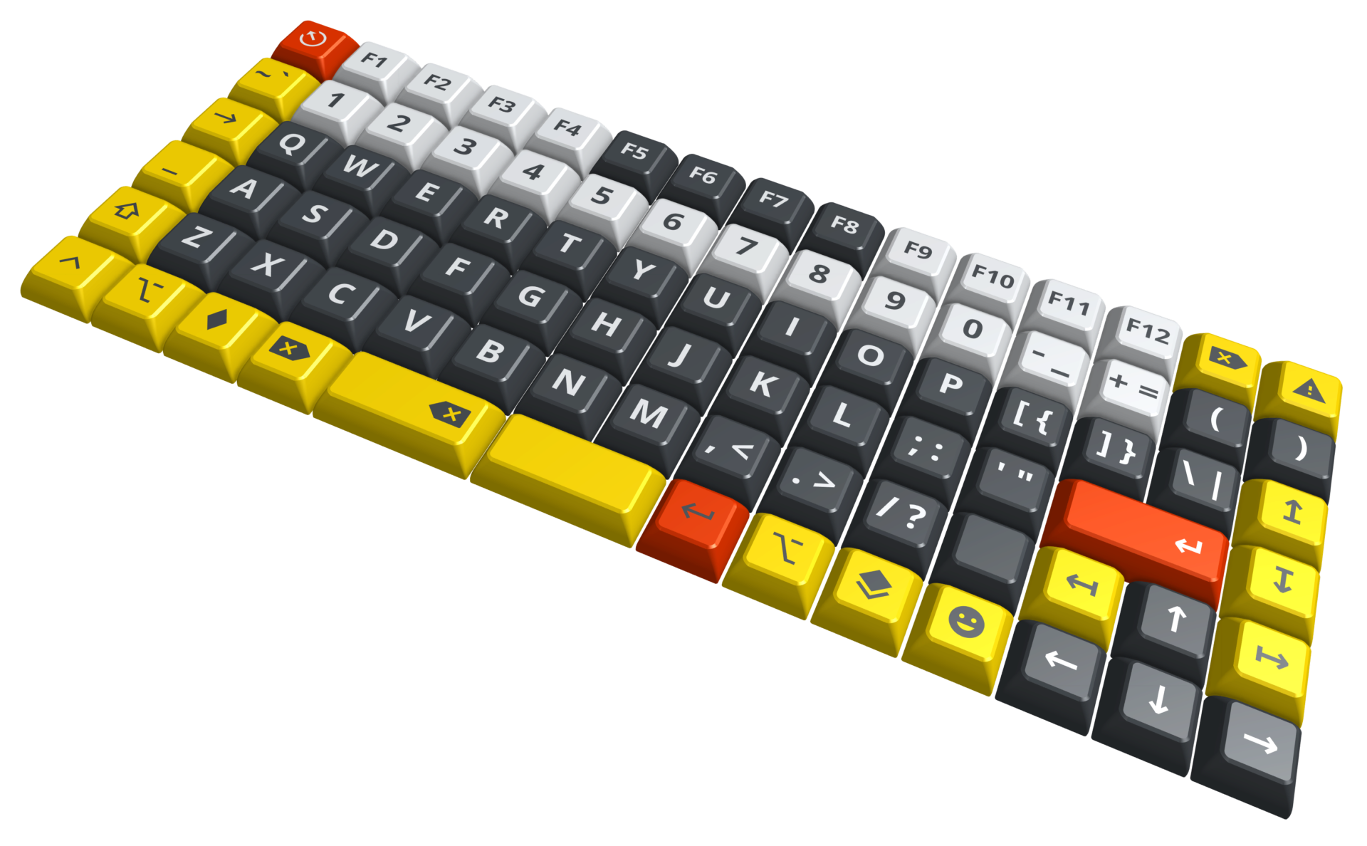 render of keycap set, with legends